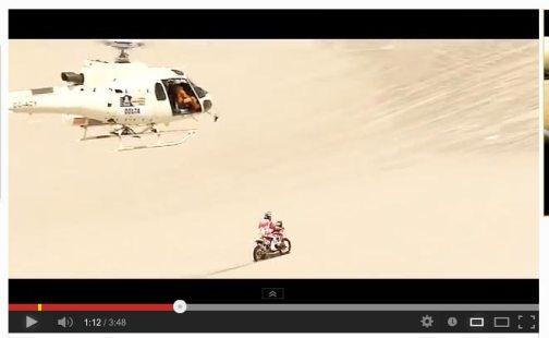 ヘリコプターが追っかけてます