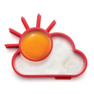 forma para ovos em formato de sol com nuvem.
