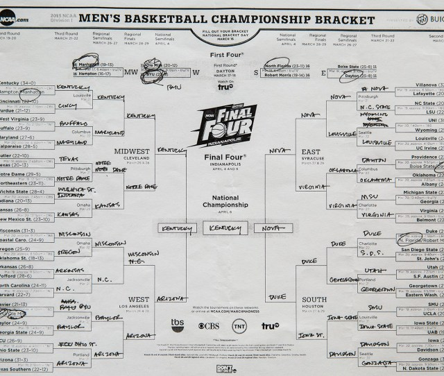 All The Presidents Picks See His 2015 Ncaa Tournament Brackets March 20