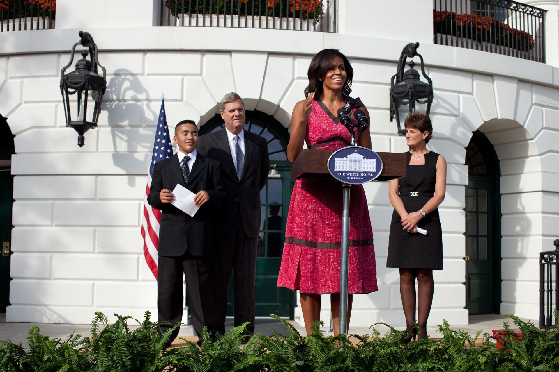 First Lady Michelle Obama Recognizes The Healthierus School Challenge Participants