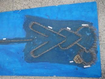 Maquete de um Curral de Pesca doado pela comunidade do Curral Velho.