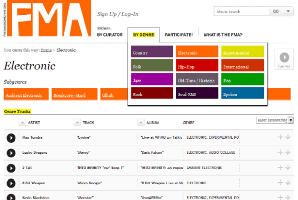 Free Music Archive is one of the best free music download sites like MP3BOO.