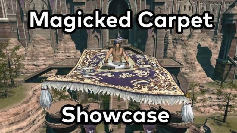Magicked Carpet (Flying Carpet) Mount Showcase - FFXIV - YouTube