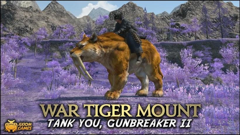 FFXIV: Shadowbringers - GNB War Tiger Mount - YouTube