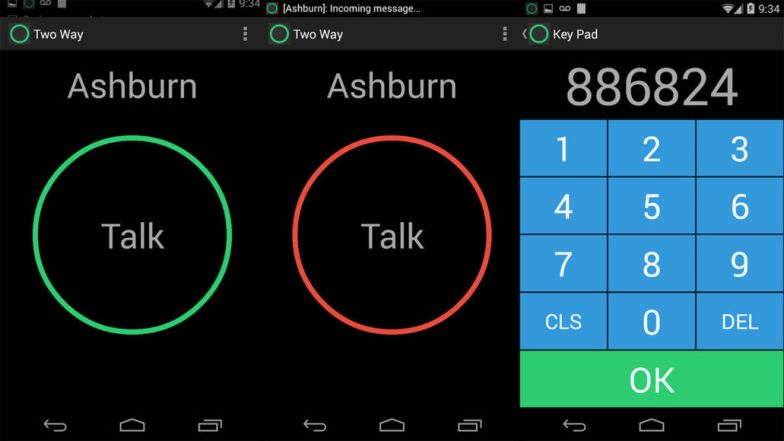 Two Way screenshot is one of the best walkie talkie apps for android