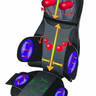 ObboMed Deluxe Full Back & Neck Heated Shiatsu Massage Cushion with Air Pressure