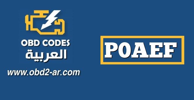 P0AEF – مستشعر درجة الحرارة المنخفضة للمحرك العاكس في محرك السيارات