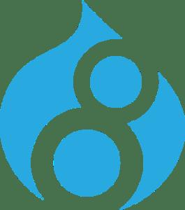 Logotipo de Drupal 8