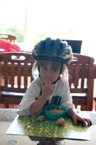 But she loves her helmet :)