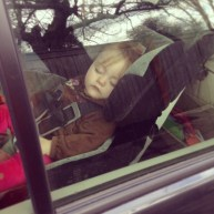 Claire has mastered napping in the car. I spend a lot of time in random parking lots reading / napping with her.