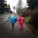 Heading to the library after school with her bestie...