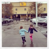 I've never see two girls more excited to grocery shop.