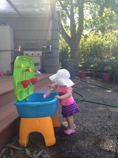 Sunshine! Warmth! Water Table!!