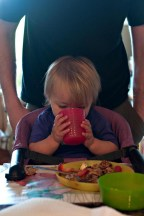 She also strongly prefers a REAL cup, not a sippy. She's pretty good, too.