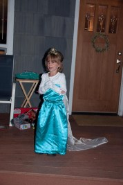 Queen Elsa made a late night appearance. She told her story in great detail, with songs.