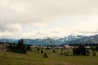 Sunrise Visitors Center & Cascade Mountain Range