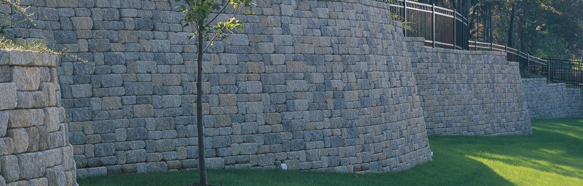 Weathered Versa Lok Mosaic RETAINING WALLS
