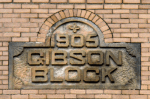 Gibson Block building capstone.