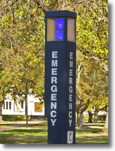 Oberlin College Campus Emergency Phone