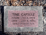 Time capsule on Tappan Square