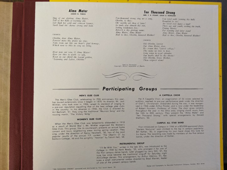 Oberlin Music From 1950 3
