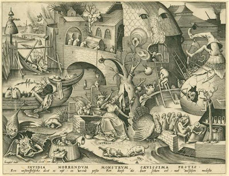 Invidia+%28Envy%29+Personified+by+Pieter+van+der+Heyden+and+Pieter+Bruegel+the+Elder+is+one+of+the+prints+featured+at+the+Between+Fact+and+Fantasy%3A+The+Artistic+Imagination+in+Print+exhibit.+The+collection%2C+on+display+in+the+Ripin+Print+Gallery+in+the+Allen%2C+explores+how+artists+visually+interpret+the+world+of+the+imagination.+