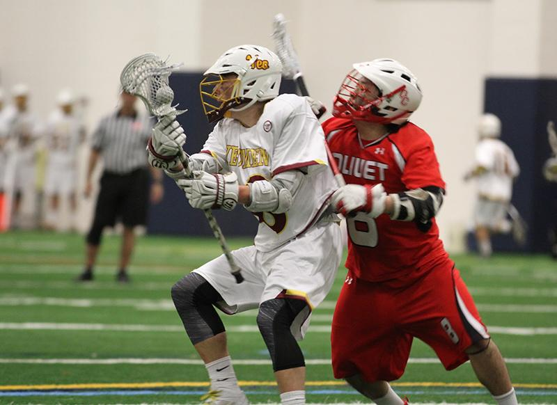 Junior+attacker+Nick+Lobley+looks+to+work+around+a+defender+in+the+team%E2%80%99s+season+opener+against%0Athe+Olivet+College+Comets.+Lobley+leads+the+2%E2%80%930+Yeomen+with+seven+goals