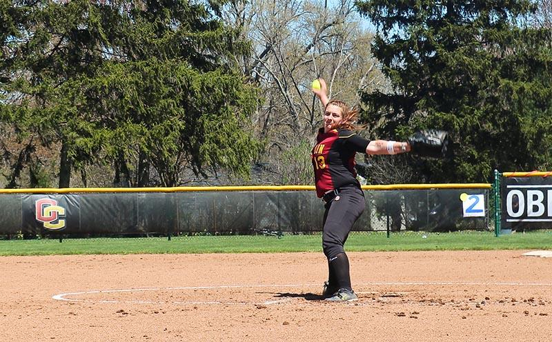 Senior+co-captain+and+pitcher+Katie+Pieplow+winds+up+for+a+pitch+against+the+visiting+Franciscan+University+Barons%0Alast+Sunday%2C+April+26.+The+softball+team+celebrated+its+Senior+Day+with+doubleheader+victories+over+the+Barons%2C+5%E2%80%934%2C+10%E2%80%931.%0AThe+Yeowomen+graduate+senior+co-captains+Pieplow+and+Jenny+Goldsmith+this+year%2C+but+the+vast+majority+of+the+roster%0Awill+return+next+fall.+Softball+concludes+its+lengthy+season+with+a+3%E2%80%9312%E2%80%931+conference+record+and+a+6%E2%80%9328%E2%80%932+overall+record.