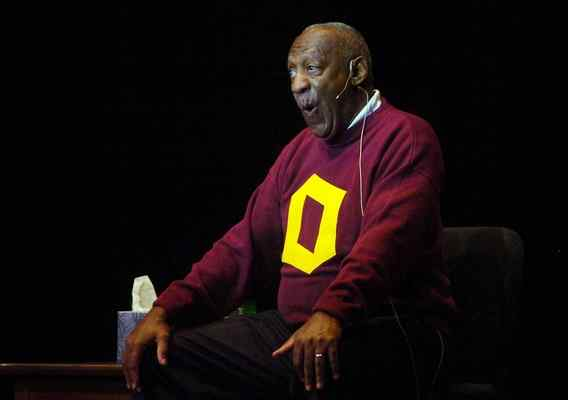 Bill Cosby talks about his early interest in jazz music at Finney Chapel on April 30, 2010, as part of the Conservatory's celebration weekend for the opening of the Kohl Building. Cosby received an honorary degree from Oberlin that weekend, but many students are calling for its retraction in light of the rape allegations against him.