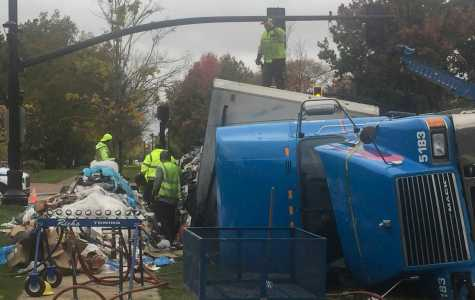 Feature Photo: Truck Overturns Thursday Morning