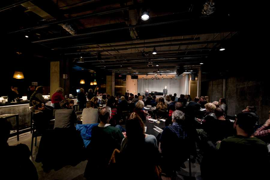 Audience+members+attend+a+performance+at+the+Birenbaum+Innovation+and+Performance+Space%2C+a+new+venue+for+concerts%0Aand+classes+that+opened+Jan.+23+at+the+Peter+B.+Lewis+Gateway+Center.