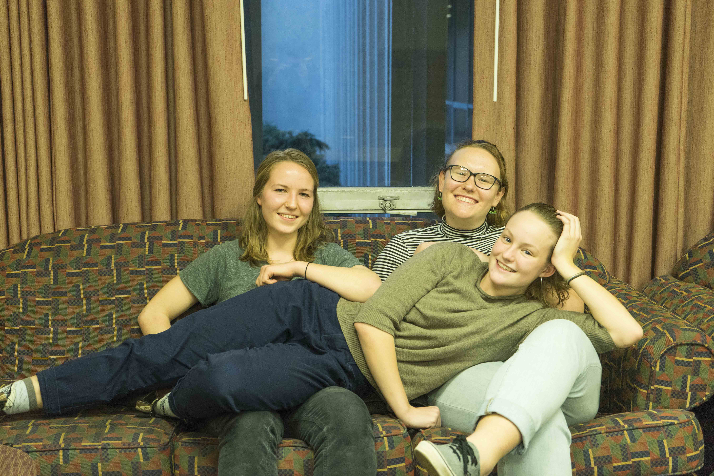 Left to right: Maya Gillett, Caroline Beshers and Faith Shaeffer