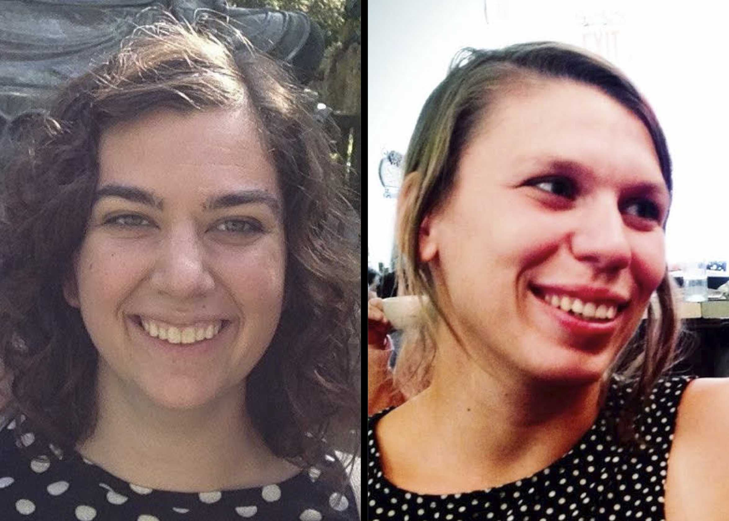 Sophie Smith (left) and Alicia Dinsmore, Humanitarian Aids for Migrants