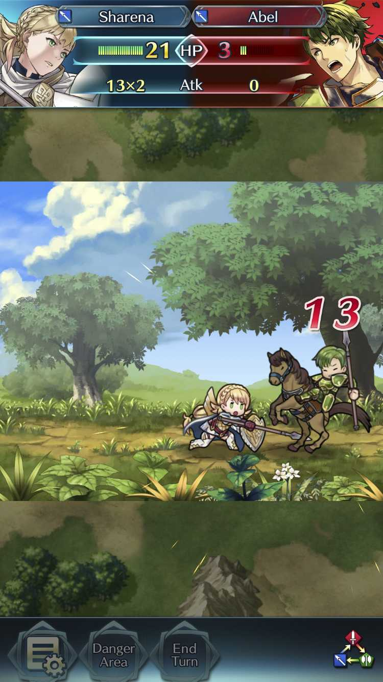 Two heroes battle in Nintendo's latest mobile game Fire Emblem Heroes, a stripped down and free-to-play adaptation of the Fire Emblem series developed by Intelligent Systems and released Feb. 2.