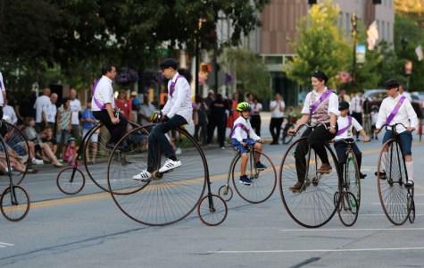 Wheelmen Roll Through Oberlin