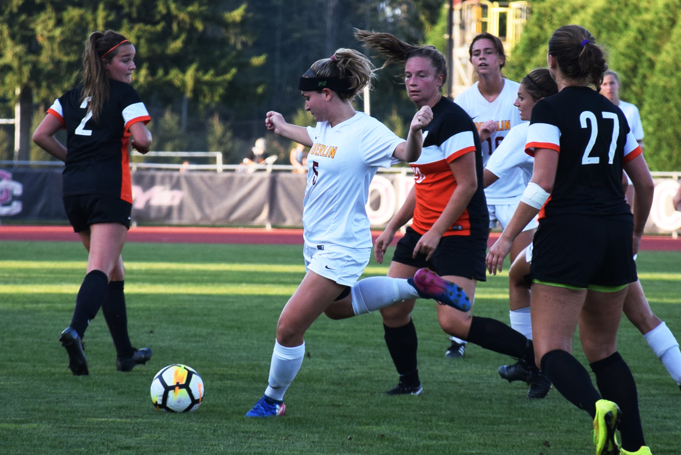 After eight years of chronic back pain, junior midfielder Jackie Brant was diagnosed with ankylosing spondylitis last spring. After months away from the game, she scored her first goal of the season Sept. 12 against Geneva College — her first game back in nearly a year.