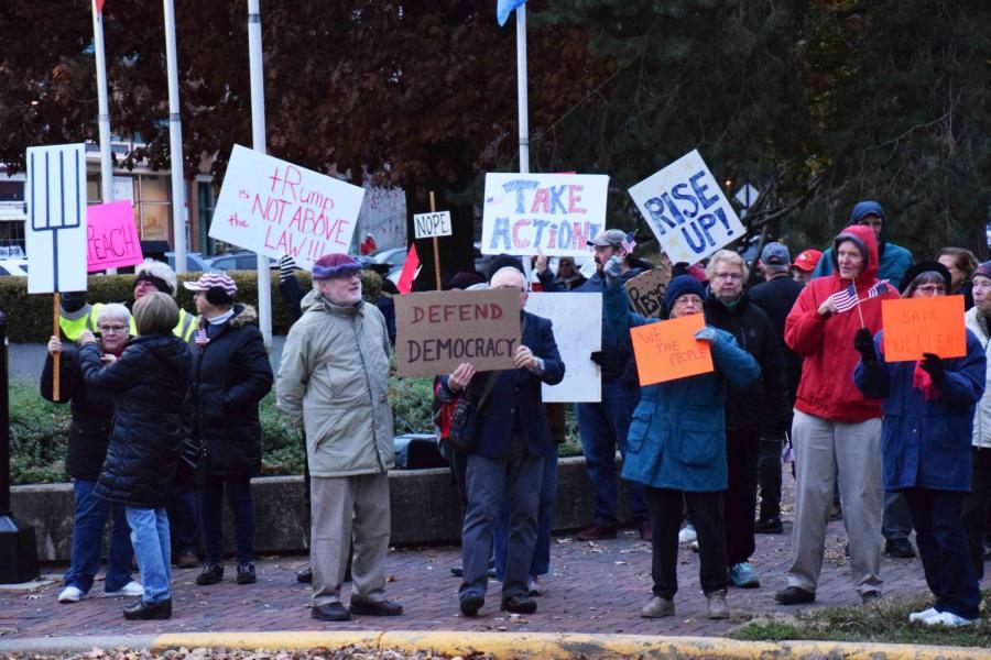 Protestors+participate+in+a+%E2%80%9CNobody+is+Above+the+Law%E2%80%9D+rally+in+Tappan+Square.