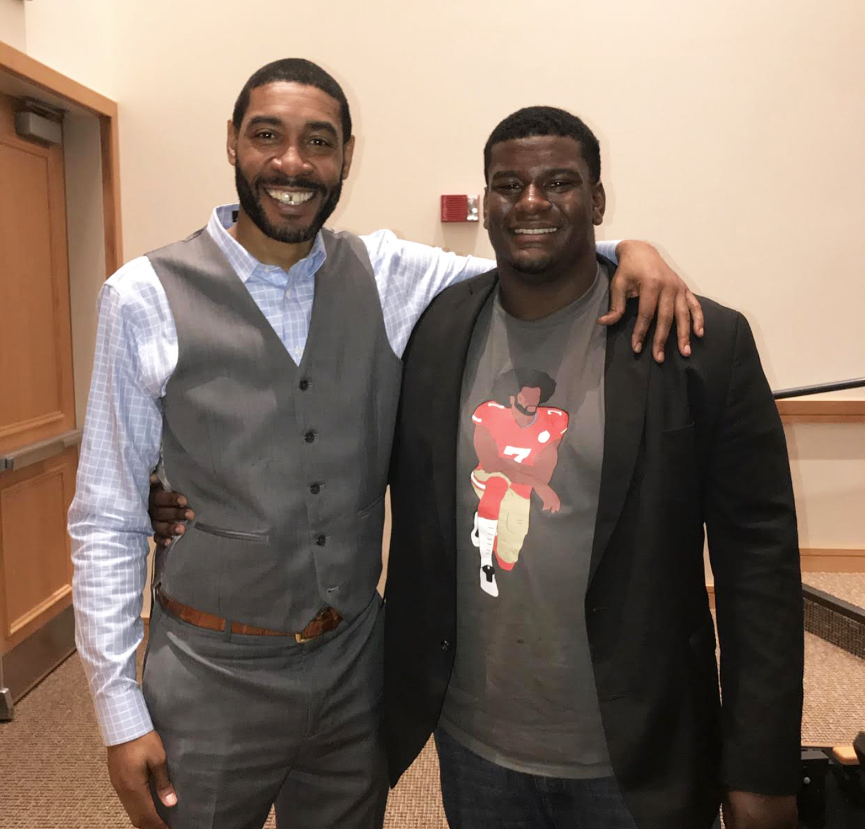 College junior, football player, and sportswriter Jason Hewitt believes he can offer a unique perspective as a journalist of color. Last spring he had the opportunity to interview Jimmy King, a member of the University of Michigan's Fab Five.