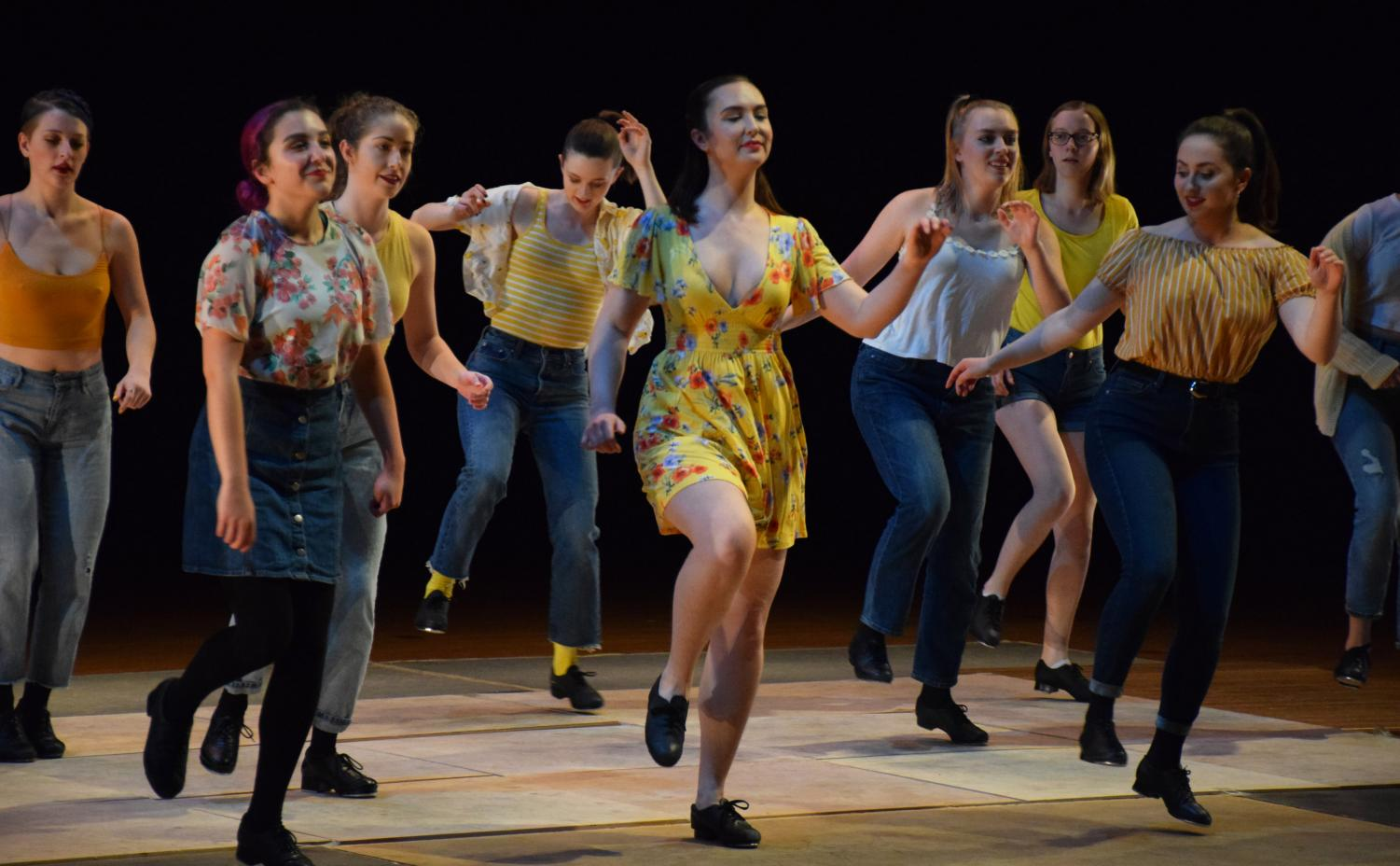 ViBE Tap performs at a dress rehearsal for this weekend's Student Dance Showcase.