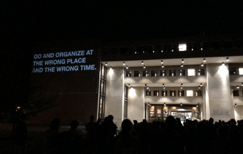 Student Organizations Shed Light on Oberlin Protest History with Powerful Projections