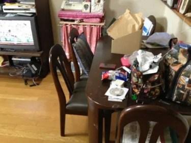 不用品ゴミを廃棄後のキッチン の様子