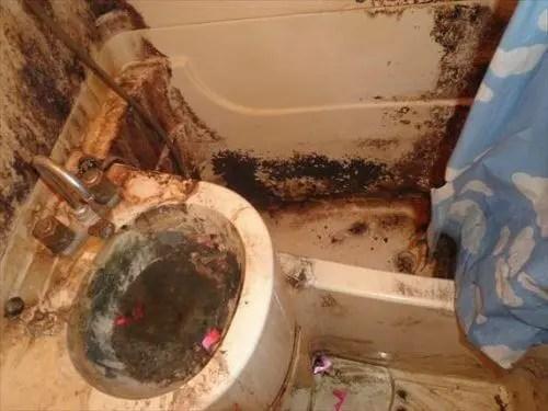 頑固な汚れがこびりついたバスルームの特殊清掃 トリプルエス 大阪