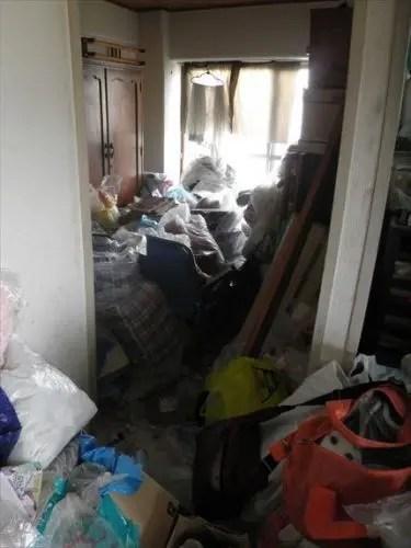 大阪市城東区のゴミ屋敷マンション 寝室の片付けアフター