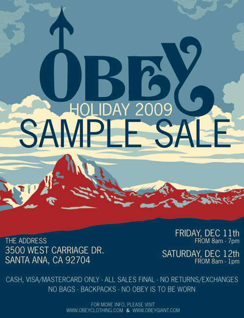 Obey Clothing Holiday sample sale 2009 - BACK