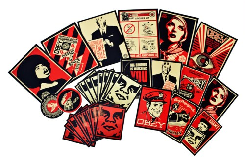 sticker pack 4 obey giant. Black Bedroom Furniture Sets. Home Design Ideas