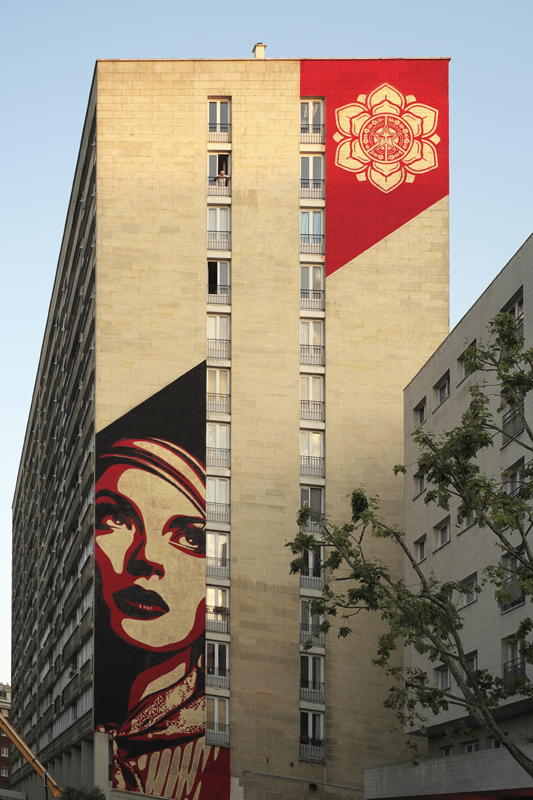 New Mural in Paris - Obey Giant
