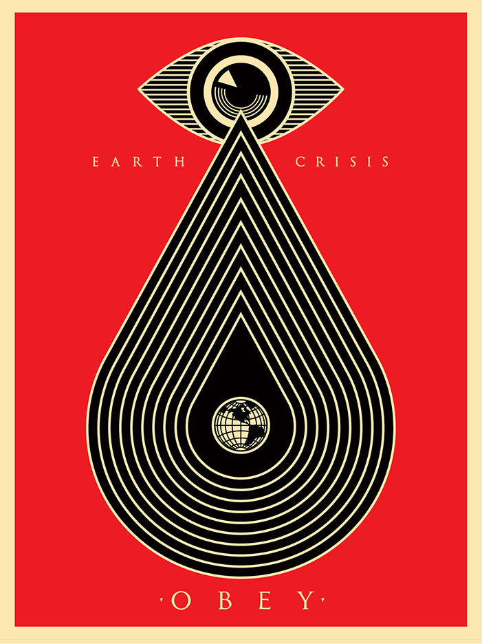 SHEPARD FAIREY Obey EARTH CRISIS tear Facing Giant 30th PRINT Postcard poster
