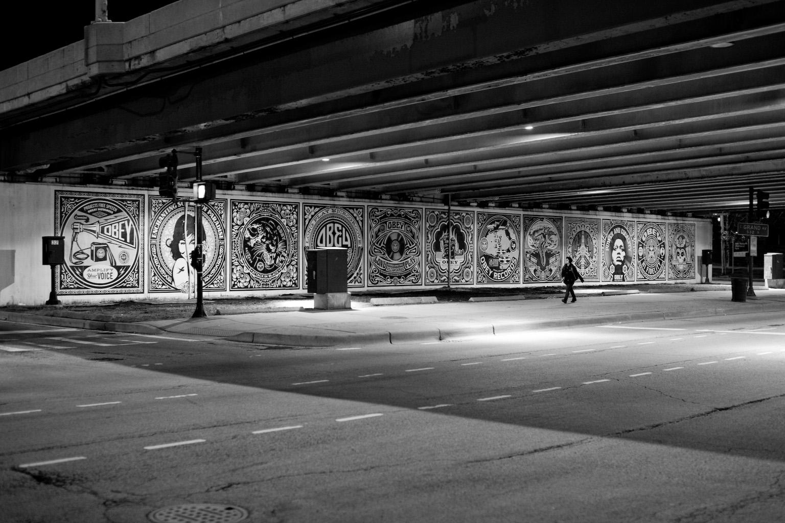Monochrome Mural Wall Art