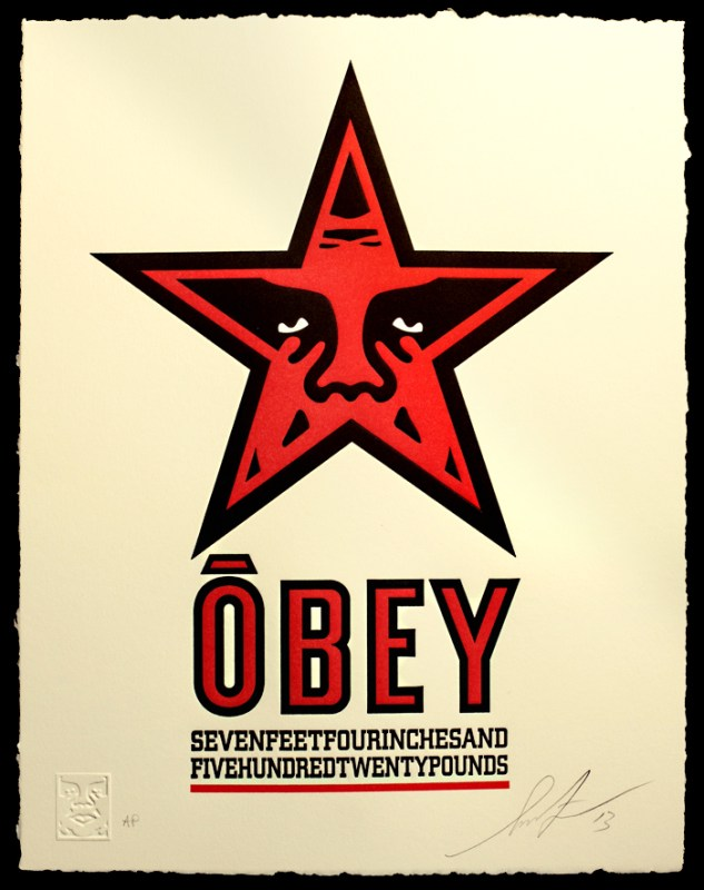 obey star letterpress obey giant. Black Bedroom Furniture Sets. Home Design Ideas