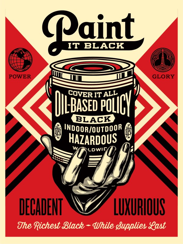 Paint It Black - Hand - Obey Giant
